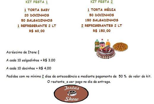DOCES E TORTAS EM SANTA CRUZ DA SERRA