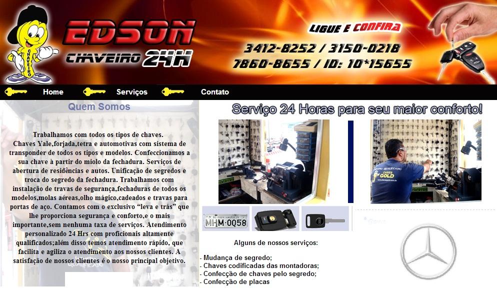 CHAVEIRO 24 HORAS EM CASCADURA - EDSON