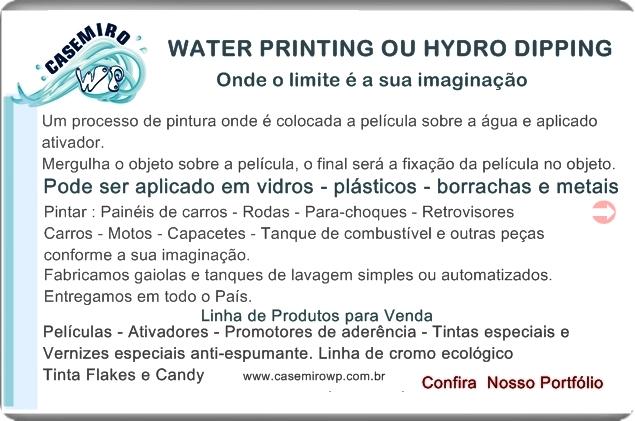 Hydro Dipping water transfer printing em Guarujá