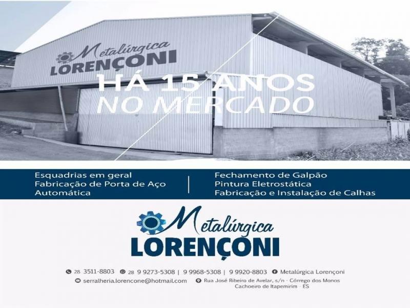 PORTAS AUTOMÁTICAS EM CACHOEIRO DE ITAPEMIRIM ES - METALÚRGICA LORENÇONI