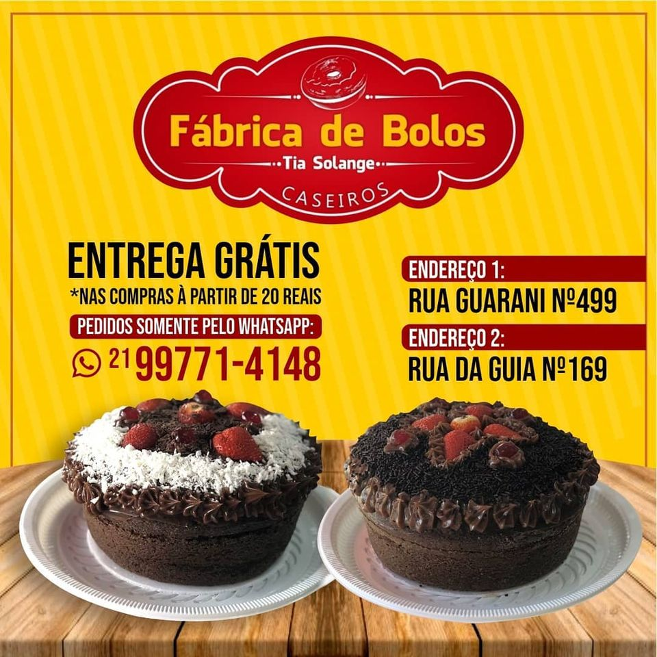 FÁBRICA DE BOLOS CASEIROS EM PIABETÁ - MAGÉ RJ