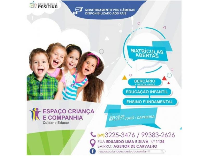 Berçário Creche em Porto Velho - Espaço Criança e Companhia