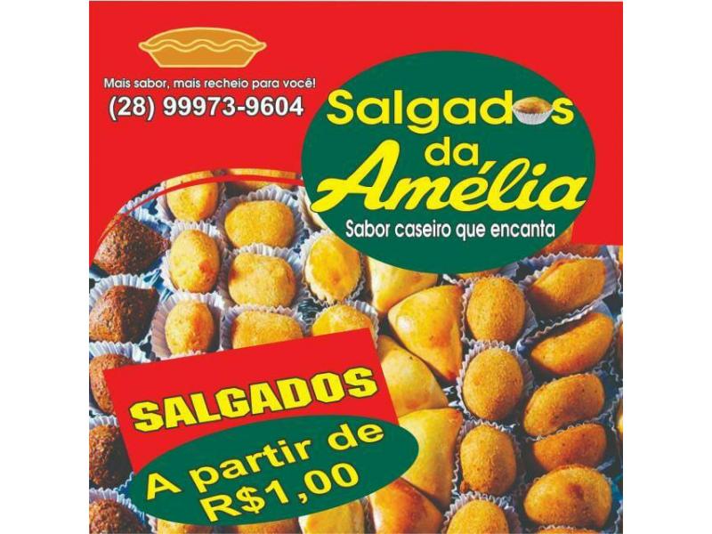 SALGADOS PARA FESTAS EM MARATAIZES - SALGADOS DA AMÉLIA
