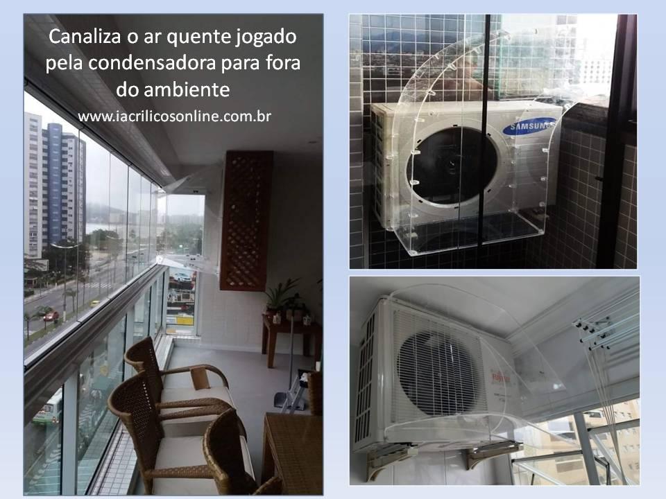 Condensadora de Ar Condicionados Ar Quente no Ambiente  Temos a Solução Confira nossos Defletores de ar quente
