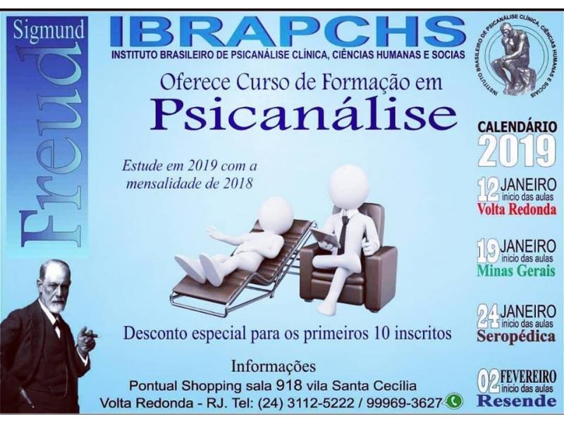 Curso de Formação em Psicanálise em Volta Redonda RJ