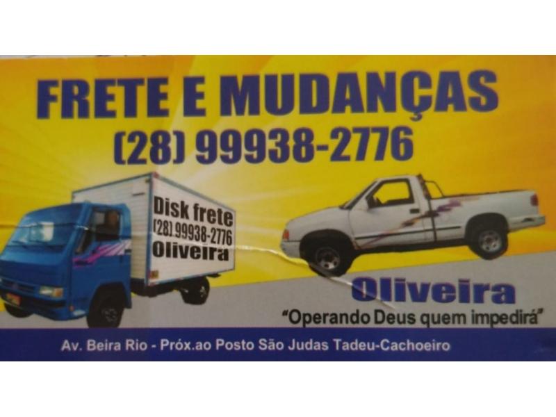 DISK FRETE E MUDANÇA EM CACHOEIRO DE ITAPEMIRIM - FRETE OLIVEIRA - ES