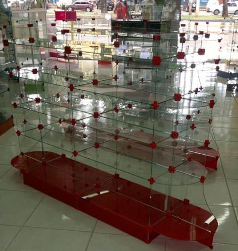 VIDRACARIA EXPOSITORES PRATELEIRA INSTALACOES VITRINES GONDULAS DE VIDRO NO GAMA DF