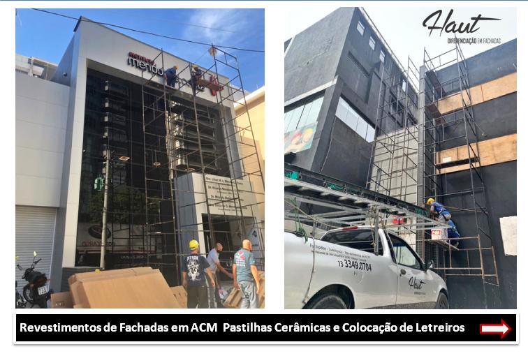 Fachadas Comerciais Guarujá e Região Placas para Lojas
