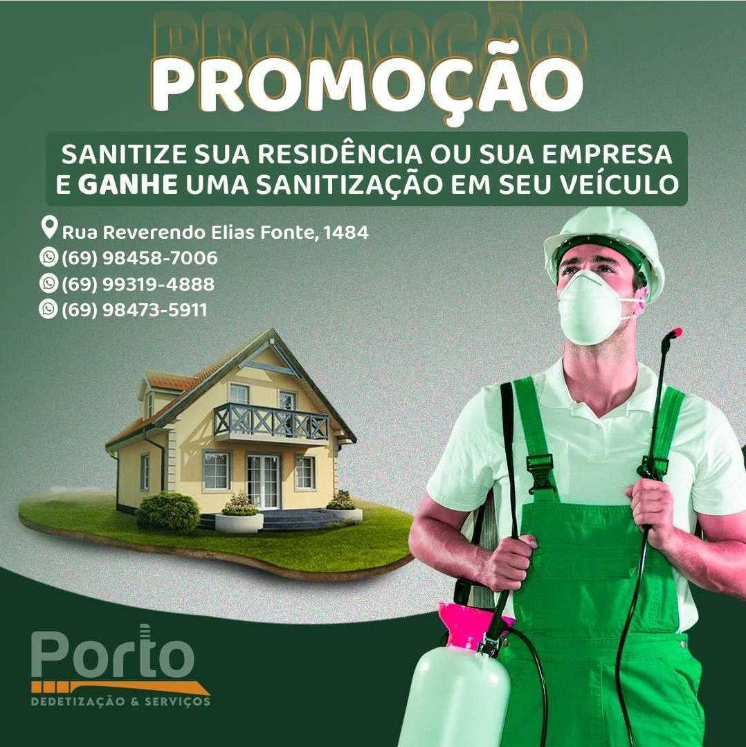 Dedetização em Porto Velho - PORTO Dedetização e Serviços
