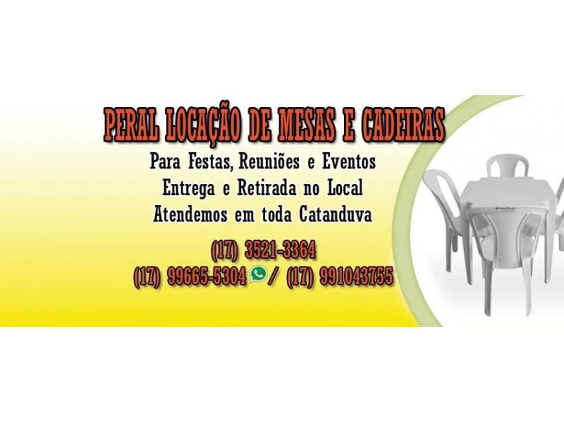 Locação de Mesas e Cadeiras em Catanduva - WhatsApp Online - SP