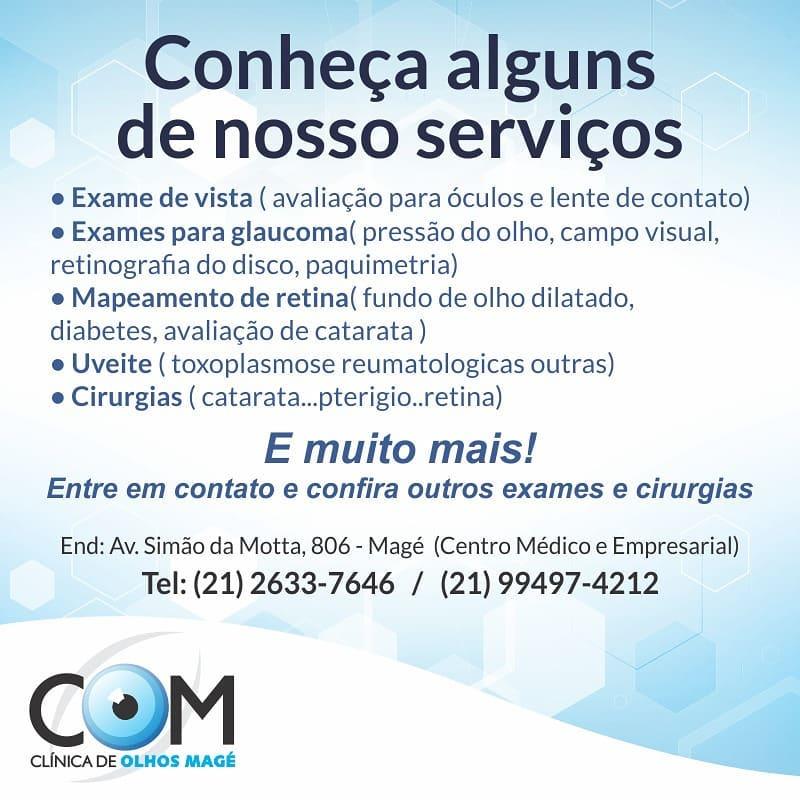 CLÍNICA DE OLHOS EM MAGÉ - WhatsApp Online - RJ