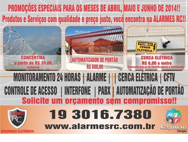 ALARMES RC - PORTAO ELETRONICO EM INDAIATUBA - SP