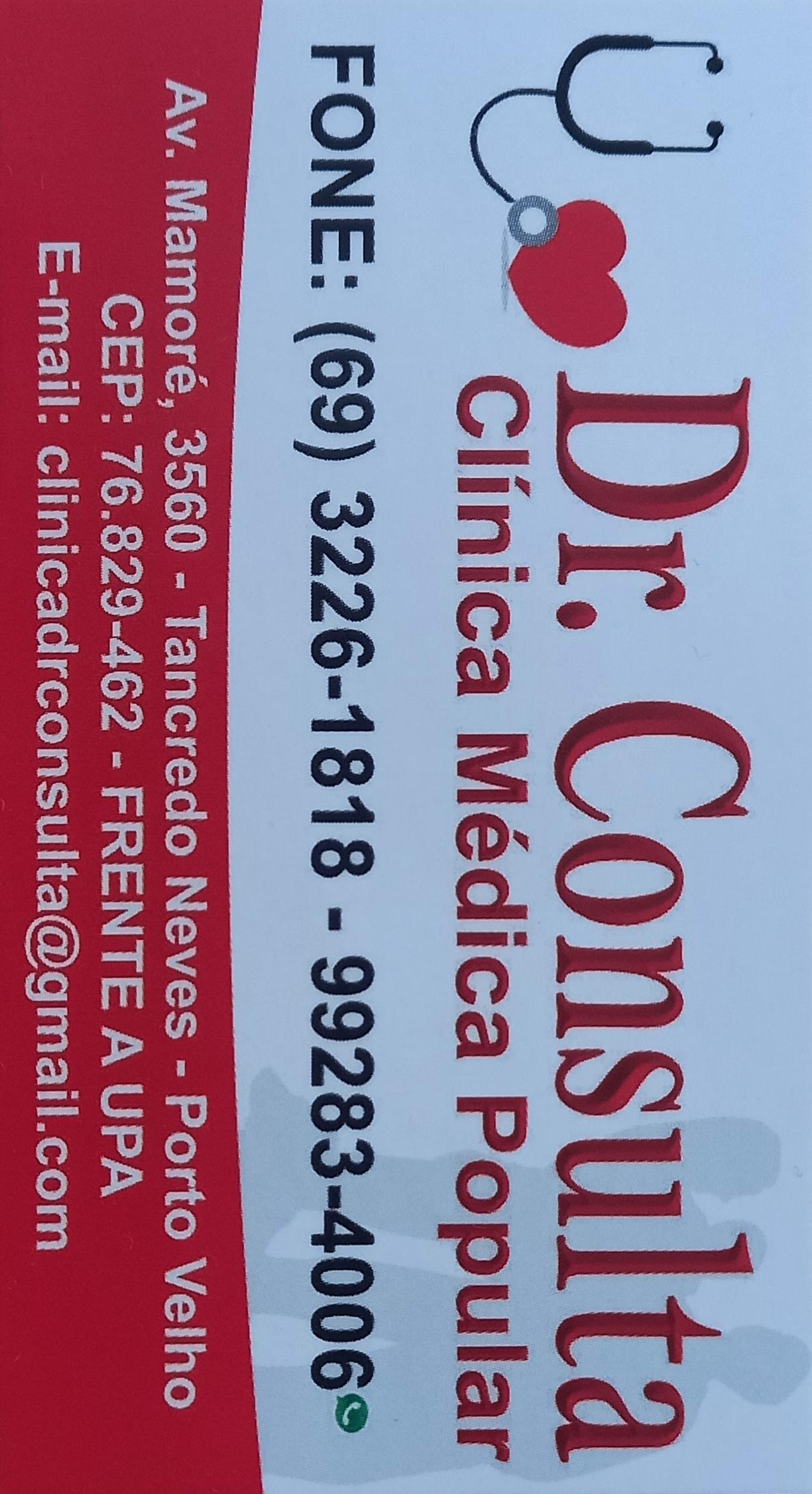 Clínica Popular na Zona Leste em Porto Velho. Dr. CONSULTA