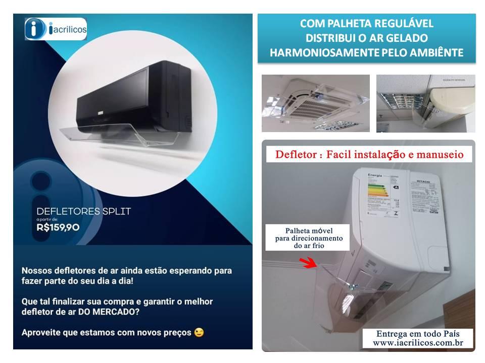 Defletores para ar condicionados em Goiania  Iacrílicos