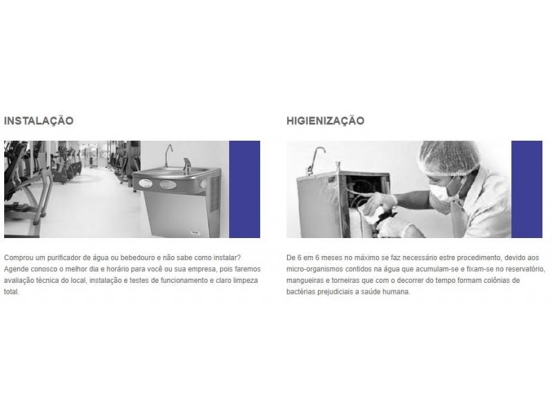 Manutenção e Higienização de Bebedouros e Purificadores de Água em São Paulo - SP