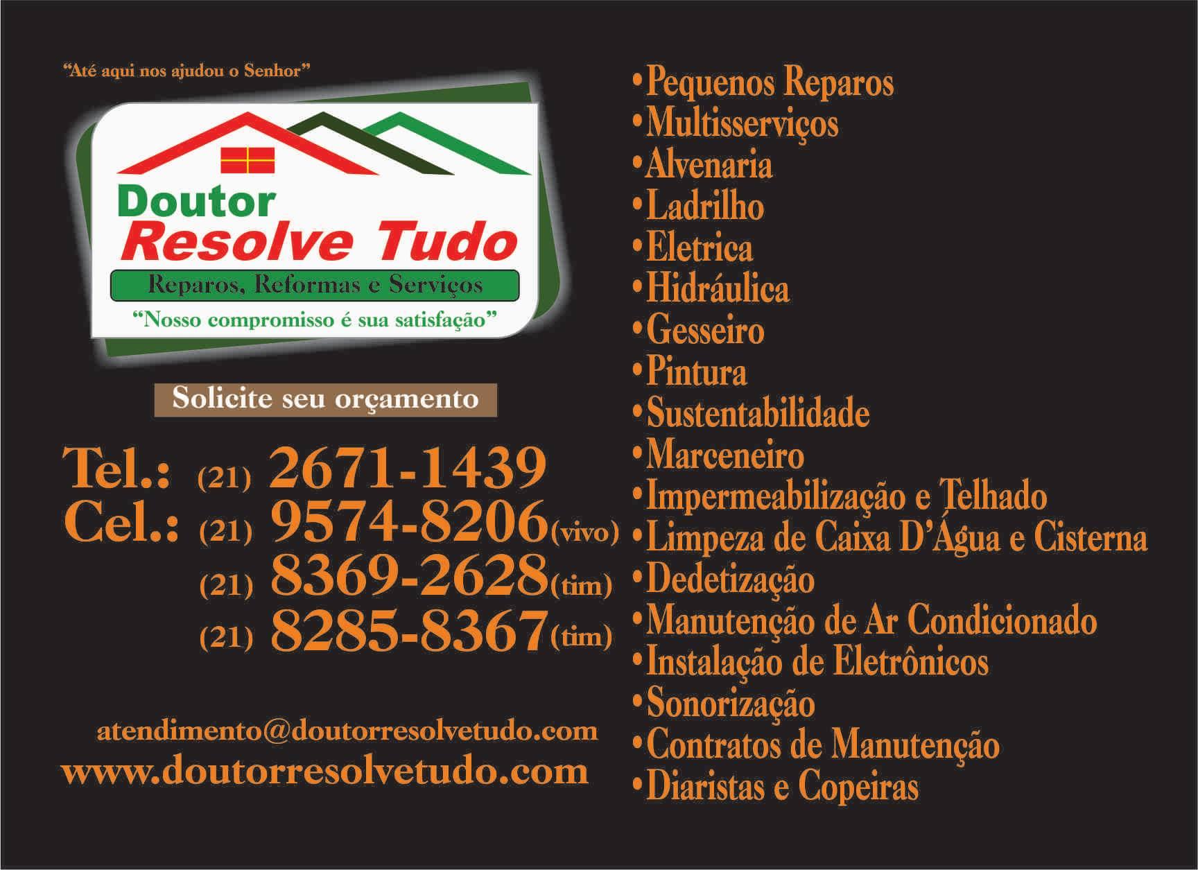 MANUTENCAO RESIDENCIAL EM DUQUE DE CAXIAS - DOUTOR RESOLVE TUDO - RJ