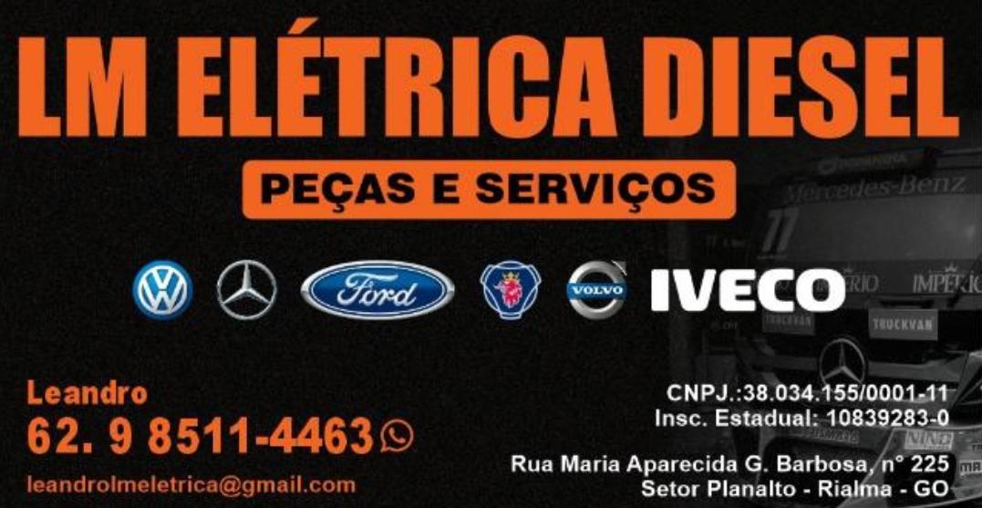 Auto Elétrica Diesel em Rialma. LM Elétrica Diesel