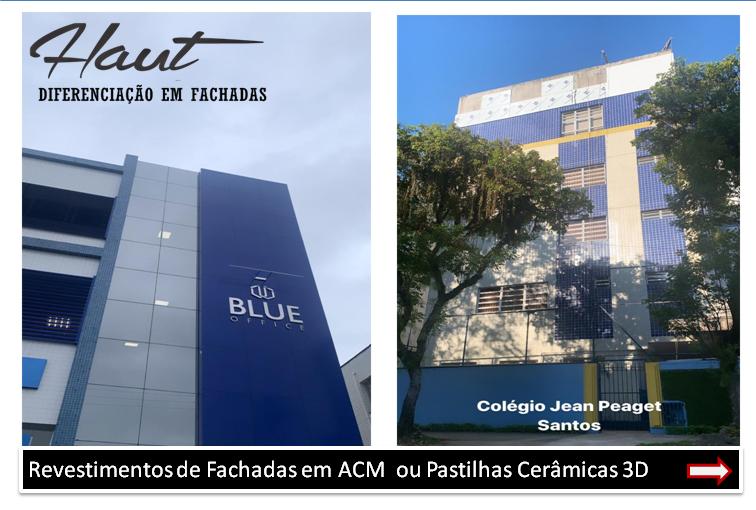 Revestimento de Fachadas Prediais em Santos Cerâmico 3D e ACM