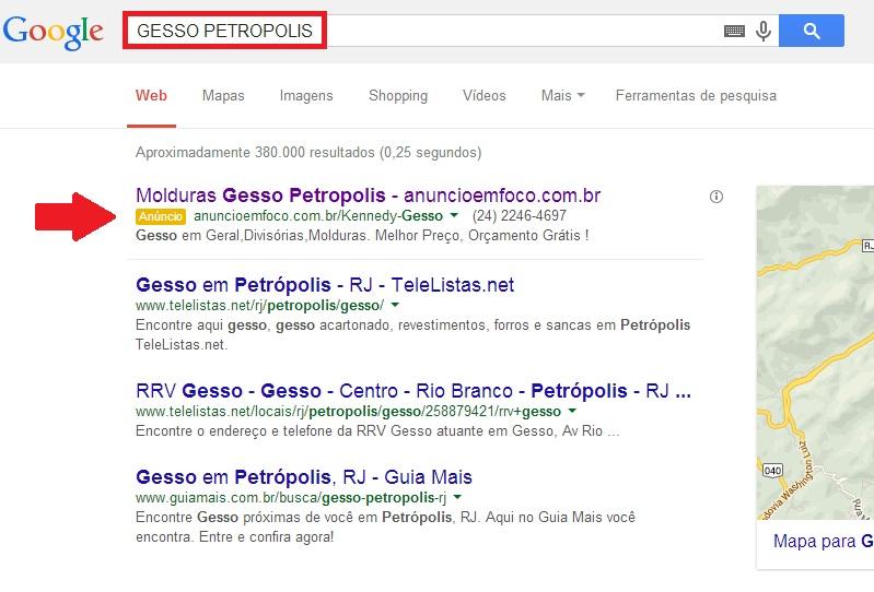 ANUNCIOS PATROCINADOS NO GOOGLE EM PETROPOLIS - PARTNER - RJ