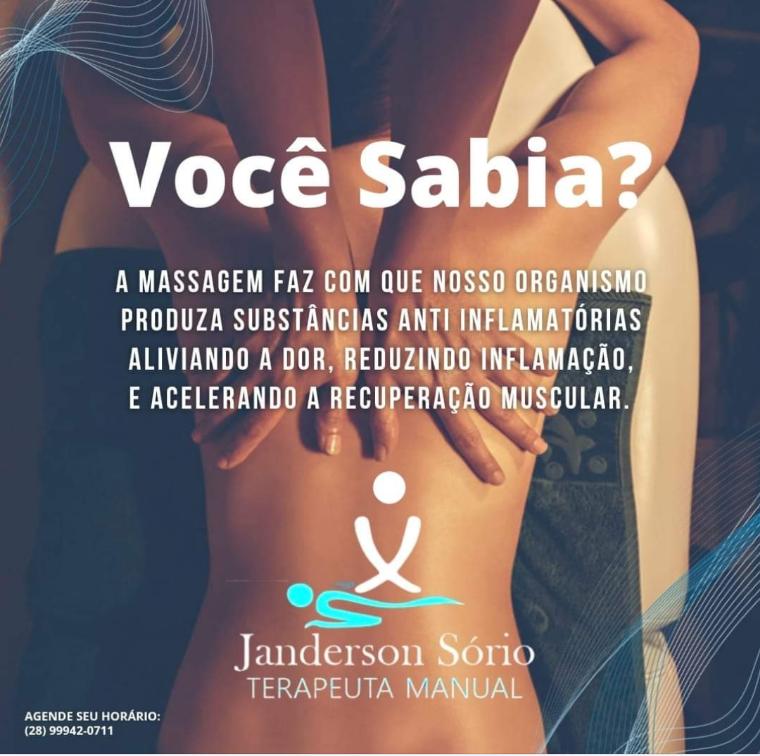 MASSOTERAPEUTA E MASSAGEM EM CACHOEIRO DE ITAPEMIRIM - JANDERSON SORIO- ES