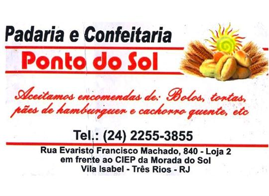PÃO TORTA BOLO E SALGADO EM TRÊS RIOS